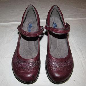 JBU Jambu Burgandy Wedge Shoes Melrose Mary Jane